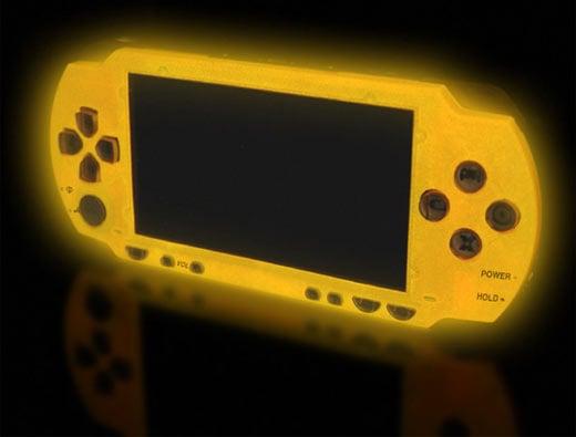 XCM Magic Night Glow PSP Yellow Faceplate