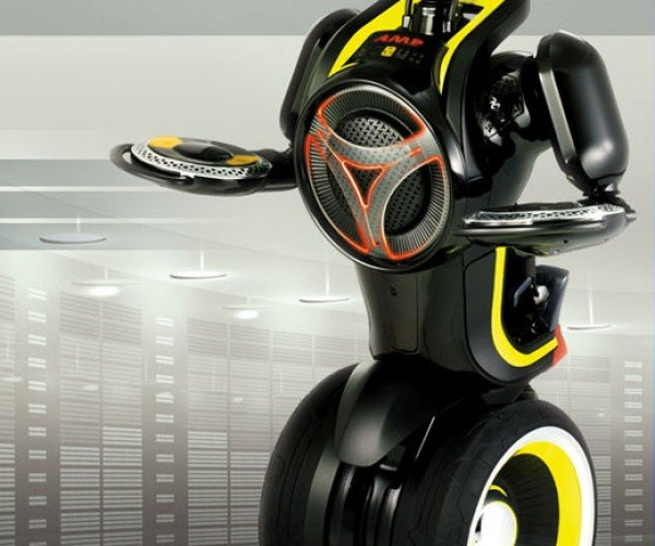 Ampbot: Like a Robot on a Segway With a Boom Box