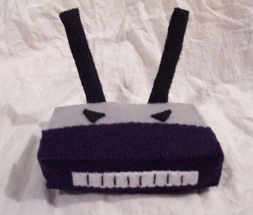 Angry Evil Plush Router by craftytails