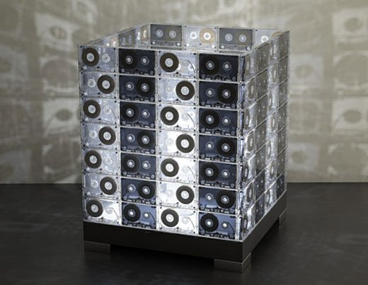 Cassette Tape Lamp by Transparent House