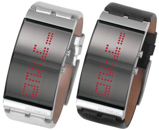 diesel mirrored led watch