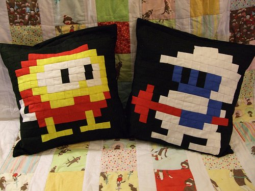 Dig Dug pillows