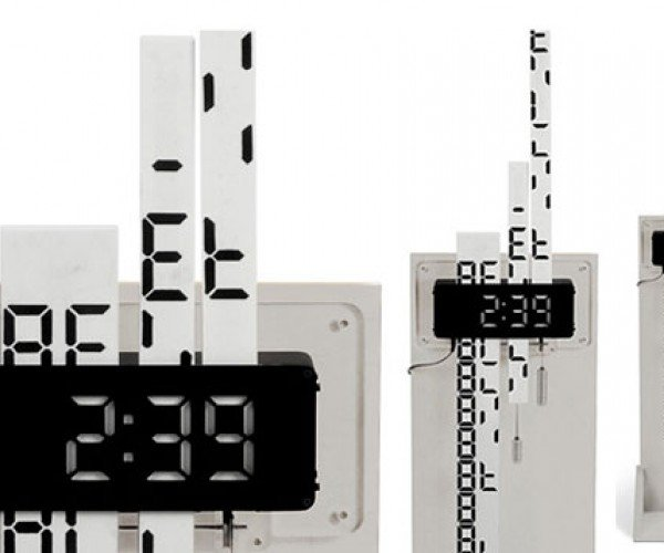 Digimech Clock Features Gear Driven Digital Display
