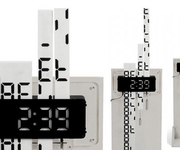 Digimech Clock Features Gear Driven Digital Display