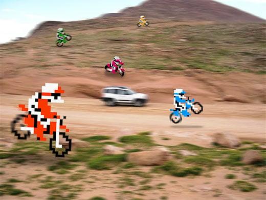 Excitebike Pixel Art by Retronoob