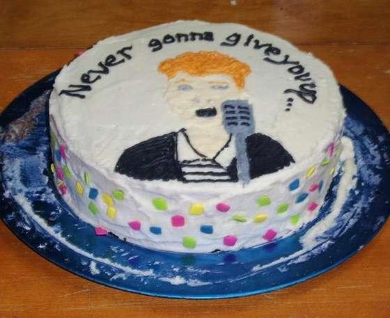 Rickroll cake
