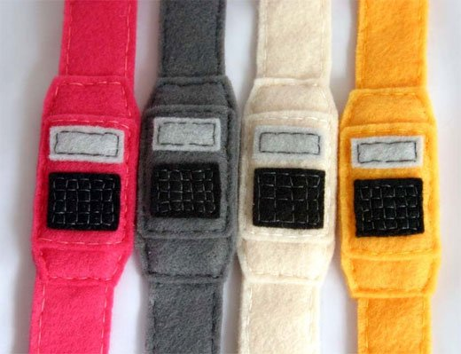 felt calculator watch