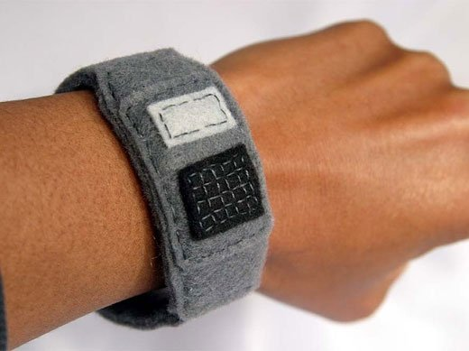 felt calculator watch on