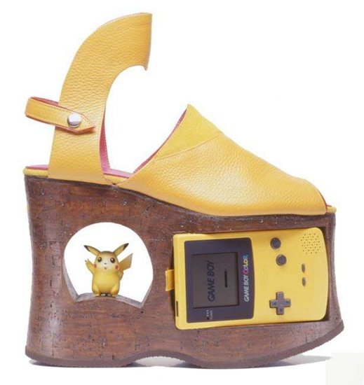 Yellow Gameboy Shoes