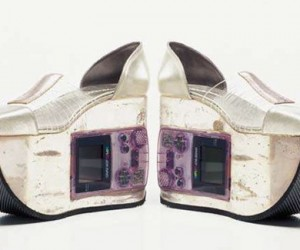 Shoes Embedded With Working Nintendo Gameboys