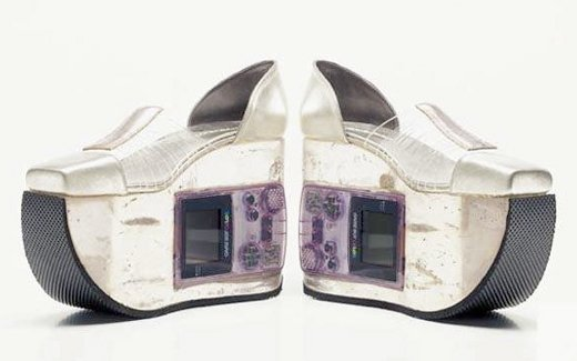 White Gameboy Shoes