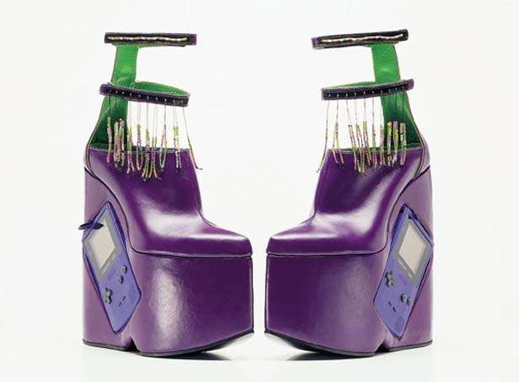 Purple Gameboy Shoes
