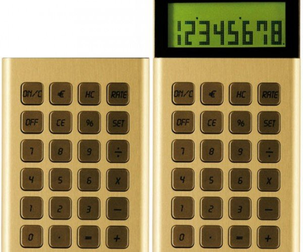 Retractable Calculator Rears Its Metal Head