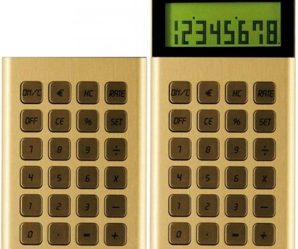 Retractable Calculator Rears Its Metal Head