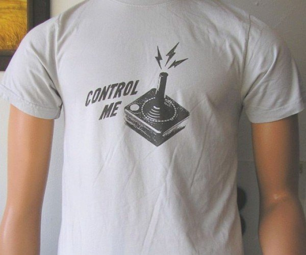 "Atari Joystick T-Shirt Says ""Control Me"" – Literally"
