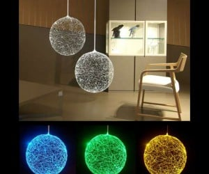 Laluna Fiber Optic Lamp Looks Like Glowing Spaghetti