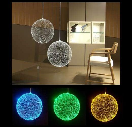 Laluna Fiber Optic Lamp Looks Like Glowing Spaghetti