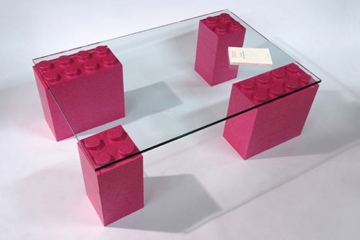 LunaBlocks table - pink