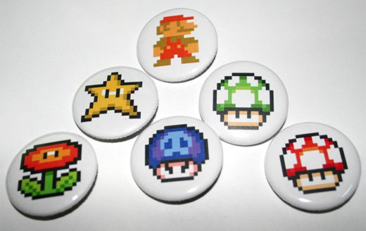 Mario Buttons by Spooons