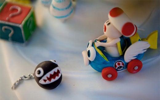 mario kart cake toadstool