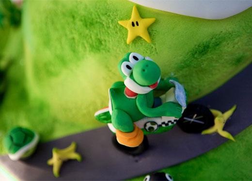 Mario Kart Wedding Cake Yoshi
