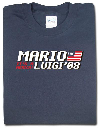 Mario and Luigi 2008 Campaign T-shirt