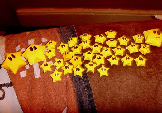 Mario Star Origami by This Fffire