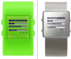 Nooka Watches Tell Time With Digital Bars