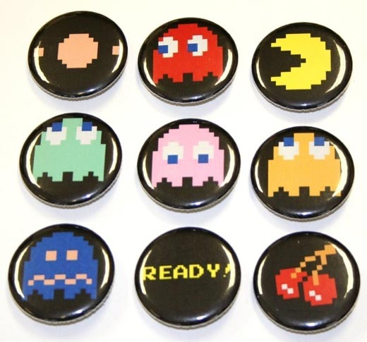 Pac-Man Magnets by Spooons