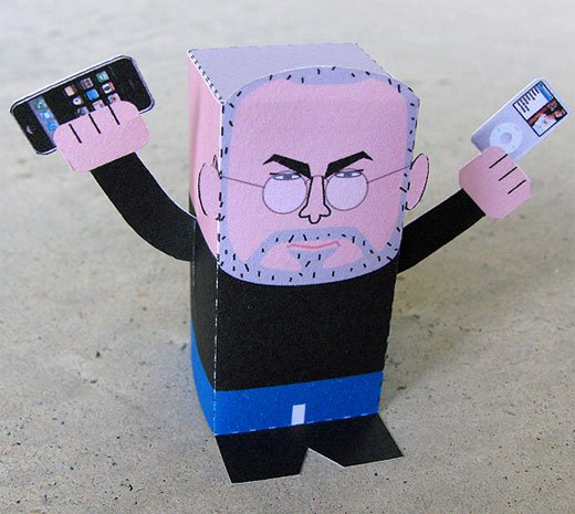 Paper Steve Jobs by Toy-a-Day