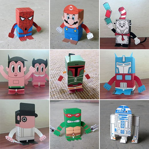 papercraft toy a day