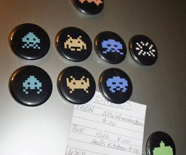 Space Invaders, Mario and Pac-Man Stick to Your Fridge