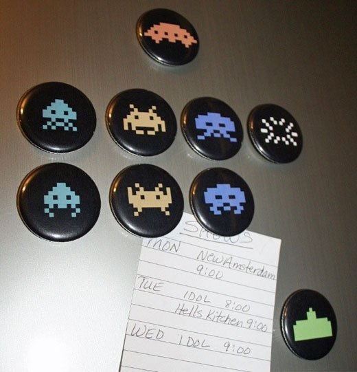 Space Invaders Magnets by Spooons