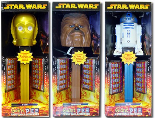 Star Wars Giant Pez Dispensers