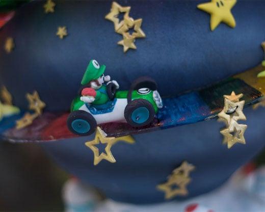 Super Mario Kart Cake Luigi
