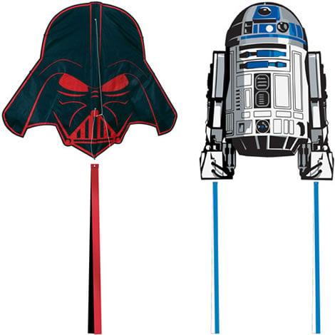 Vader and R2 kites