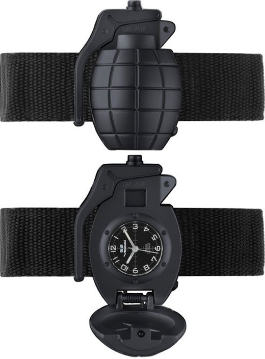 vestal grenade watch black