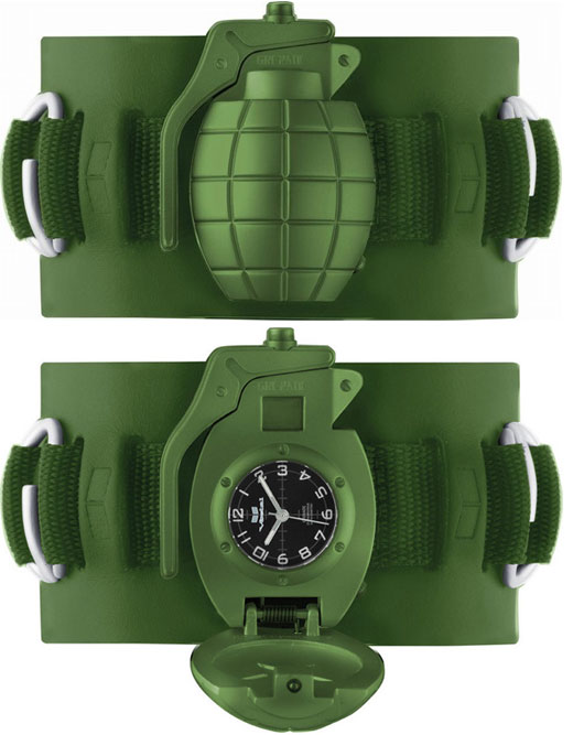 vestal grenade watch green