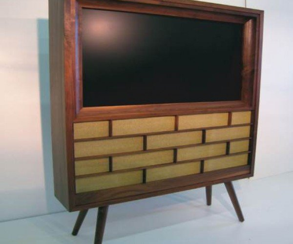 New Plasma Tv in a Retro-Look Wooden Case