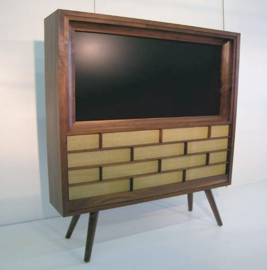 Retro Wooden TV