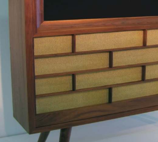 Retro Wood TV closeup