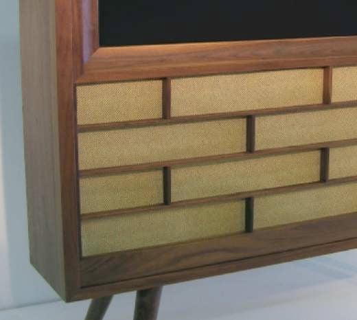 Retro Wood TV closeup