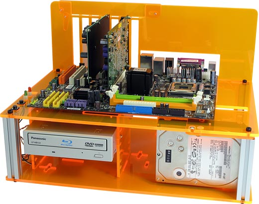 DC-ACPC3 Plus Orange Acrylic PC Case