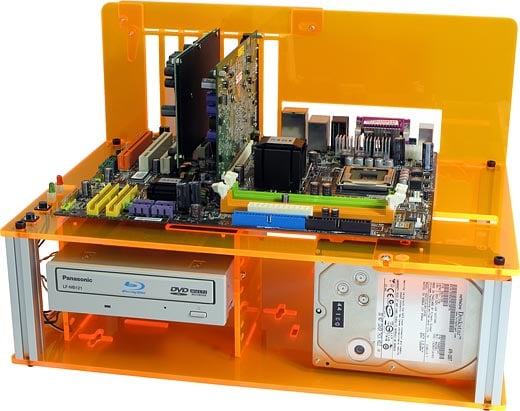 DC-ACPC3 Plus Orange Acrylic PC Case