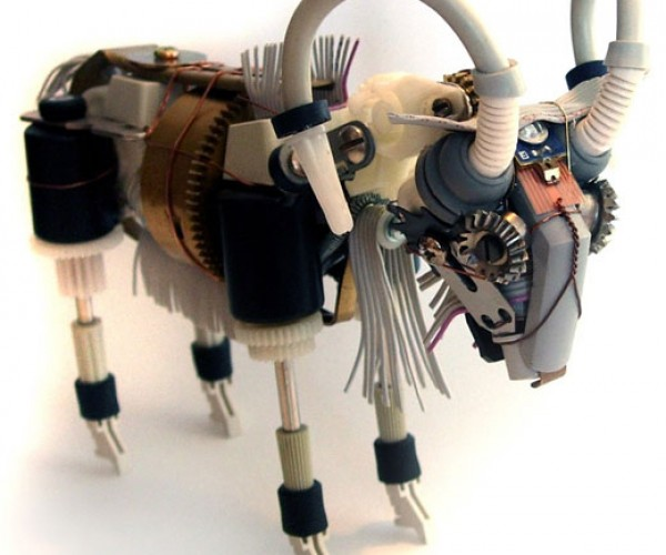 Ann P Smith's Robot Sculptures: Upcylcled Wonders