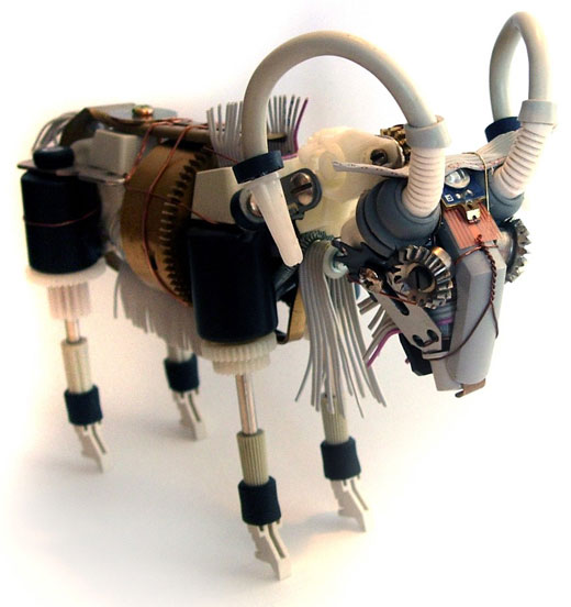 ram robot sculpture by ann p. smith
