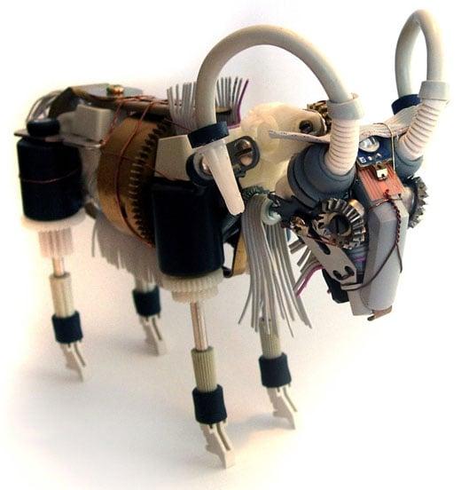 ram robot sculpture by ann p. smith