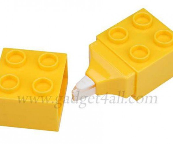 A Hidden Roll of Correction Tape Lurks Inside This Fake LEGO