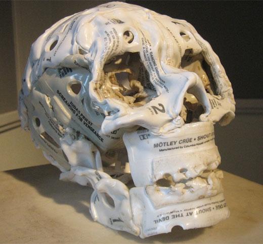 Cassette Tape Skull by Brian Dettmer