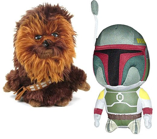 Chewbacca and Boba Fett Plush